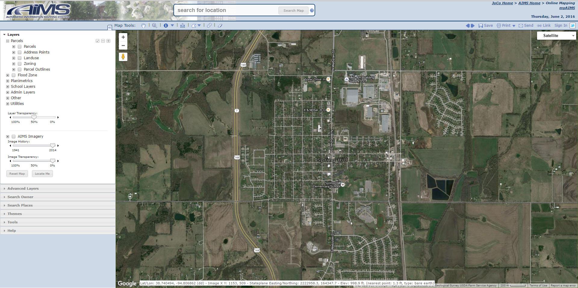 maps property info spring hill ks official website