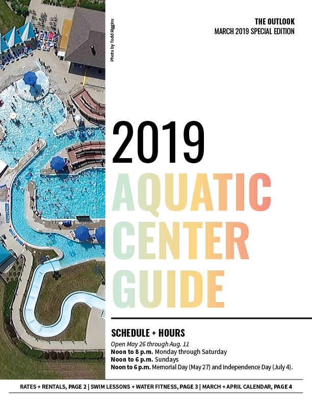 Front page of the Aquatic Center Guide
